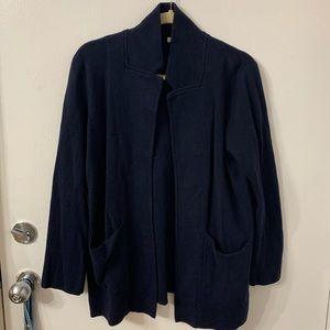 J. Crew Factory open-front sweater blazer - L